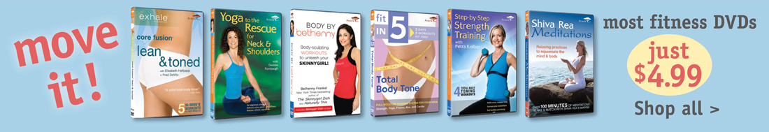 Fitness DVDs for $4.99