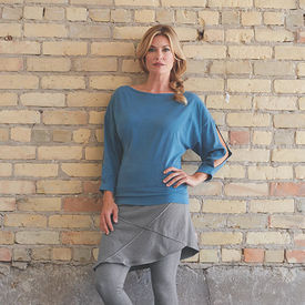 Leah Top with Skirted Ankle Leggings